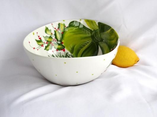 Schüssel Weihnachtsdekor Ø 23 cm Dekor grüne Schleife