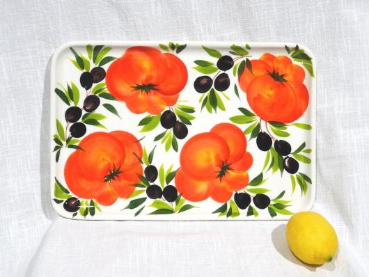 Servierplatte Tomate Olive groß