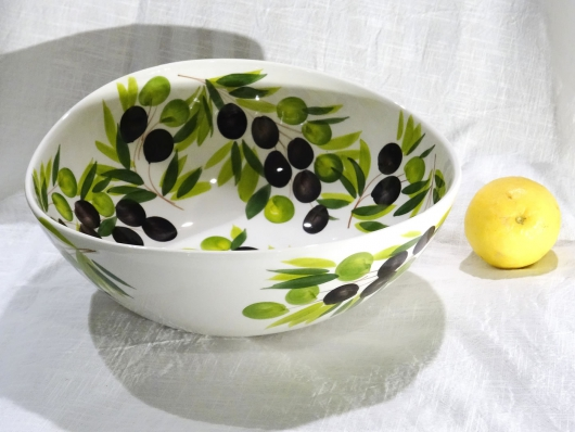 Schüssel Olive weiss, Ø ca. 29 cm