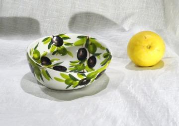 Schüssel Olive weiss, Ø ca. 14 cm