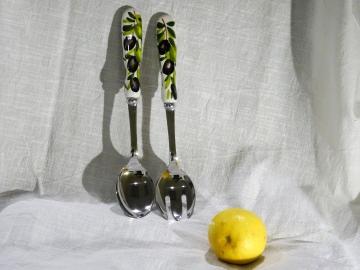 Salatbesteck Olive glatt