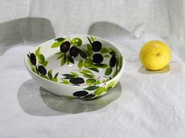 Schüssel Olive weiss, Ø ca. 19 cm