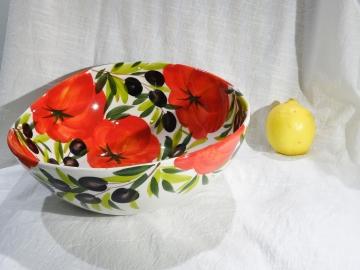 Schüssel Tomate Olive, Ø ca. 29 cm, Höhe ca. 10,5 cm