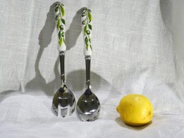 Salatbesteck Olive Relief