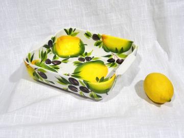 Auflauf-Form Limone Olive quadratisch