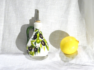 Kännchen Olive weiss Essig/Öl