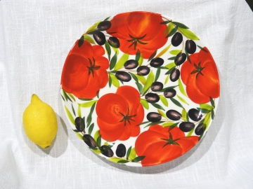 Teller Tomate Olive 28 cm Durchmesser