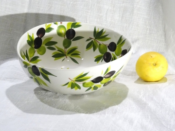 Schüssel Olive weiss, Ø ca. 23 cm