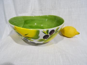 Schüssel Limone verde hell, Durchmesser ca. 23 cm, Höhe ca. 9,5 cm