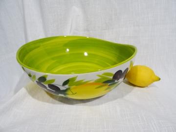 Schüssel Limone verde hell, Durchmesser ca. 29cm, Höhe ca. 10,5 cm
