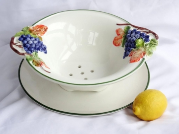 Obst-Abtropf-Set Relief mit Teller