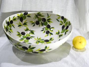 Schüssel Olive weiss, Ø ca. 34 cm
