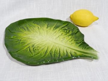 Platte Relief Salatblatt