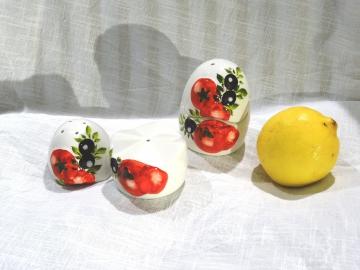 Salz/Pfeffer-Ei Tomate Olive Relief